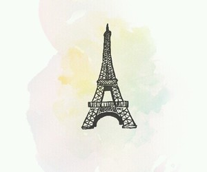 art, background, and effiel tower image