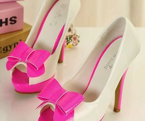 fashion, high heels, and pink heels image