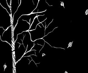 amor, blacl and white, and arbol image