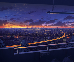 anime, art, and city image