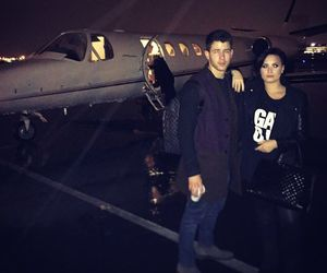 demi lovato, nick jonas, and demi image