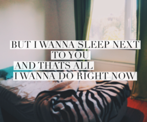 bed, quote, and sleep image