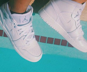 withe, nike air jordan, and full style image