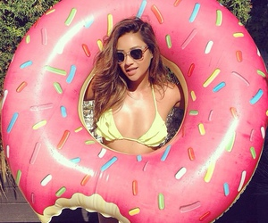 pll, shay mitchell, and donuts image