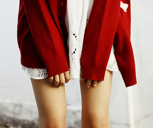 girl, skinny, and red image