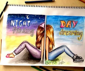 night, day, and drawing image