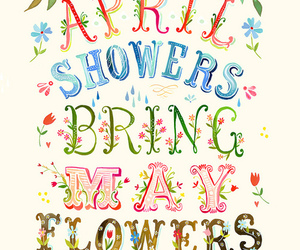 april, spring, and flowers image
