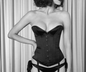 black, bows, and corset image