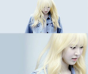 blonde, son seungwan, and denim image