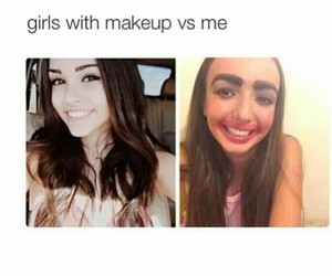 funny, girls, and makeup image