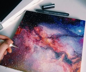 art, galaxy, and drawing image