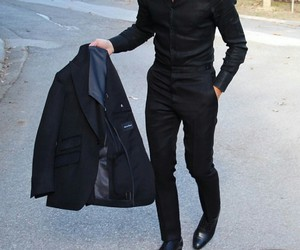 luxury, black, and man image