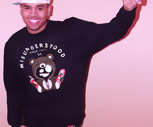 chris brown, peace, and boy image