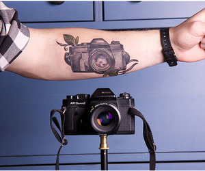 camera, photography, and tattoo image
