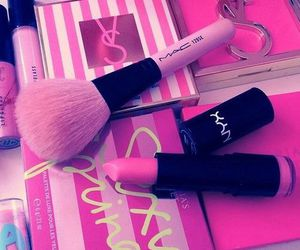 pink, makeup, and mac image