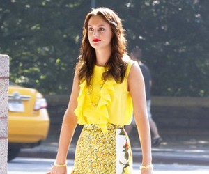 yellow, blair waldorf, and gossip girl image