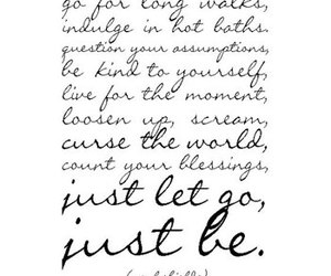 quote, just be, and life image