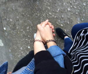 love, hands, and friends image