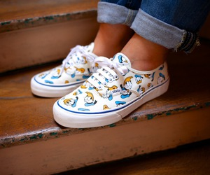 duck, vans, and disney image
