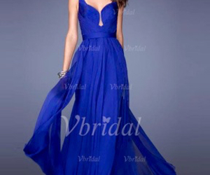 backless dress, blue, and want image