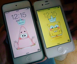 apple, patrick star, and Queen image