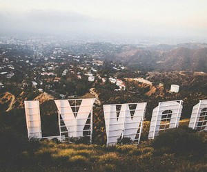 hollywood, city, and travel image