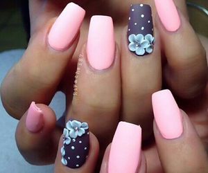 fingernails, girly, and polka dots image