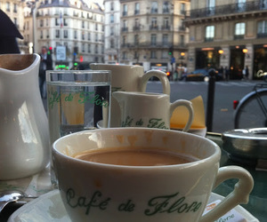 coffee, paris, and cafe image