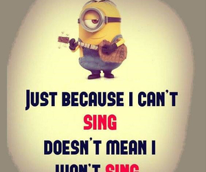 sing and minion image
