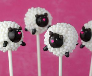 sheep, cake, and cake pops image