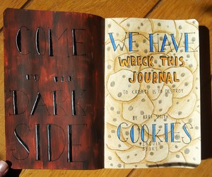 art, Cookies, and wreck this journal image