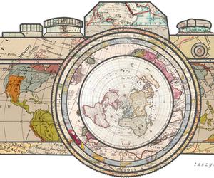 camera, world, and travel image