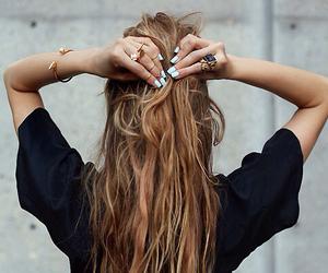 hair, nails, and black image