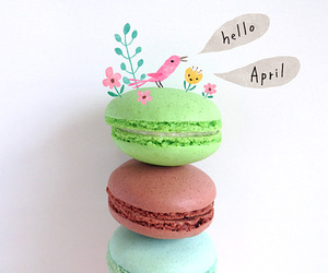 april, spring, and sweets image