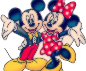 disney, micky, and miny image