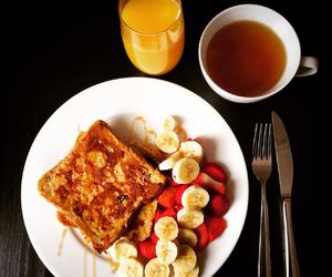 banana, breakfast, and french toast image
