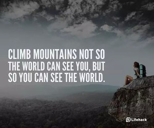 mountains, quote, and world image