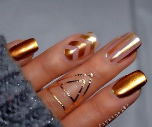 nails, gold, and art image