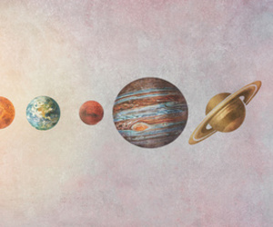 planet, space, and sun image