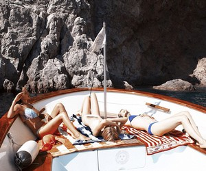 summer, boat, and friends image