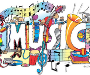 awesome, colorful, and music image