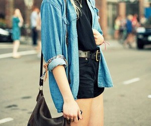 black, cute, and jean jacket image
