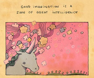 unicorn, quotes, and imagination image