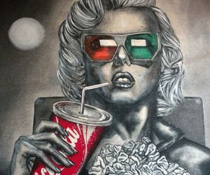3d, Marilyn Monroe, and art image