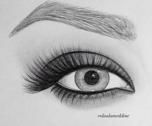 beautiful, drawing, and eye image
