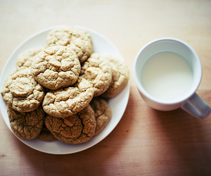 Cookies, milk, and food image