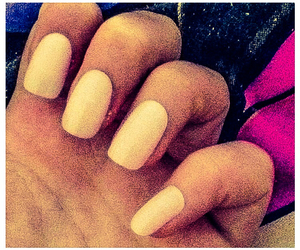 beige, long, and nails image