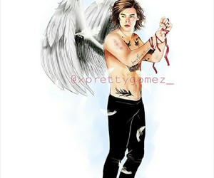 Harry Styles, angel, and art image
