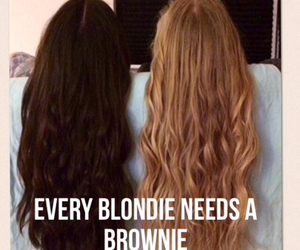 best friends, hair, and blonde image