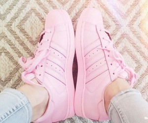 pink, adidas, and chanel image